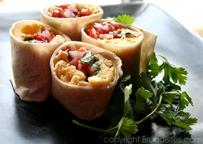 Sexy Salsa Breakfast Wraps on RSG